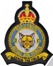 No. 12 Squadron Royal Air Force RAF 1915 to 1952 Crest MOD Embroidered Patch